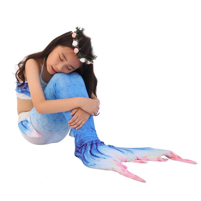 New Style Children Mermaid Swimwear Girls Tube Top Swimming Suit Baby Mermaid Tail Princess Skirt