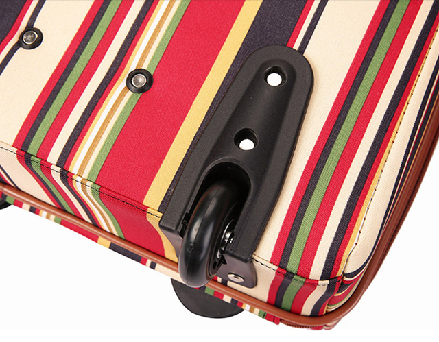 20 inch oxford Rolling Luggage set Spinner Women Brand Suitcase Wheels stripe Carry On Travel Bags