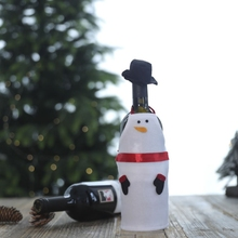 Christmas Wine Bottle Cover Clothes Snowman Santa Dining Table Decoration Festive Party Supply
