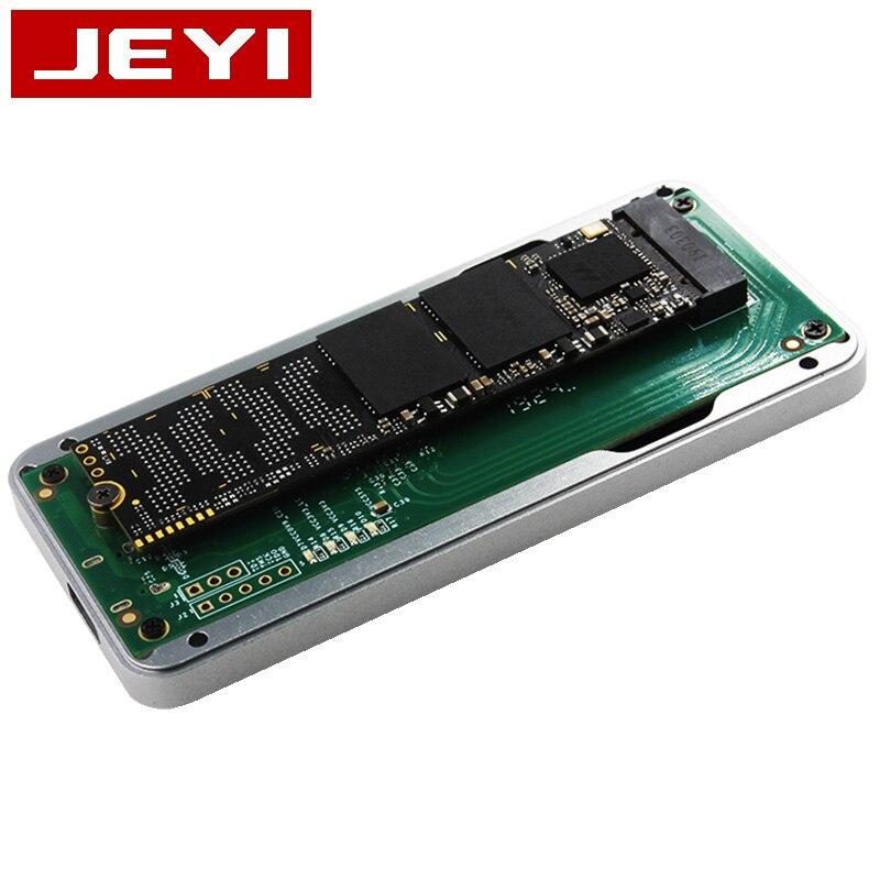 Boîtier mobile JEYI thunderbolt 3 m.2 nvme boîtier boîtier NVME à TYPE-C en aluminium TYPE C3.1 m. 2 USB3.1 M.2 PCIE U.2 SSD LEIDIAN-3 - 4