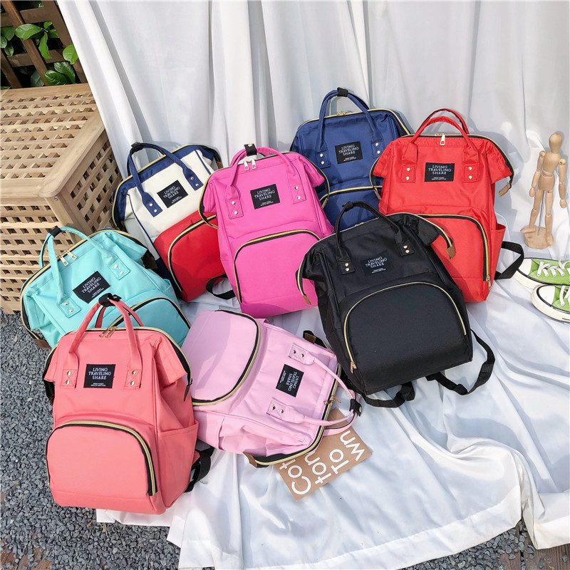Multi-functional Outdoor Large-Volume Oxford Cloth Diaper Bag Mom And Baby Backpack Hot Selling
