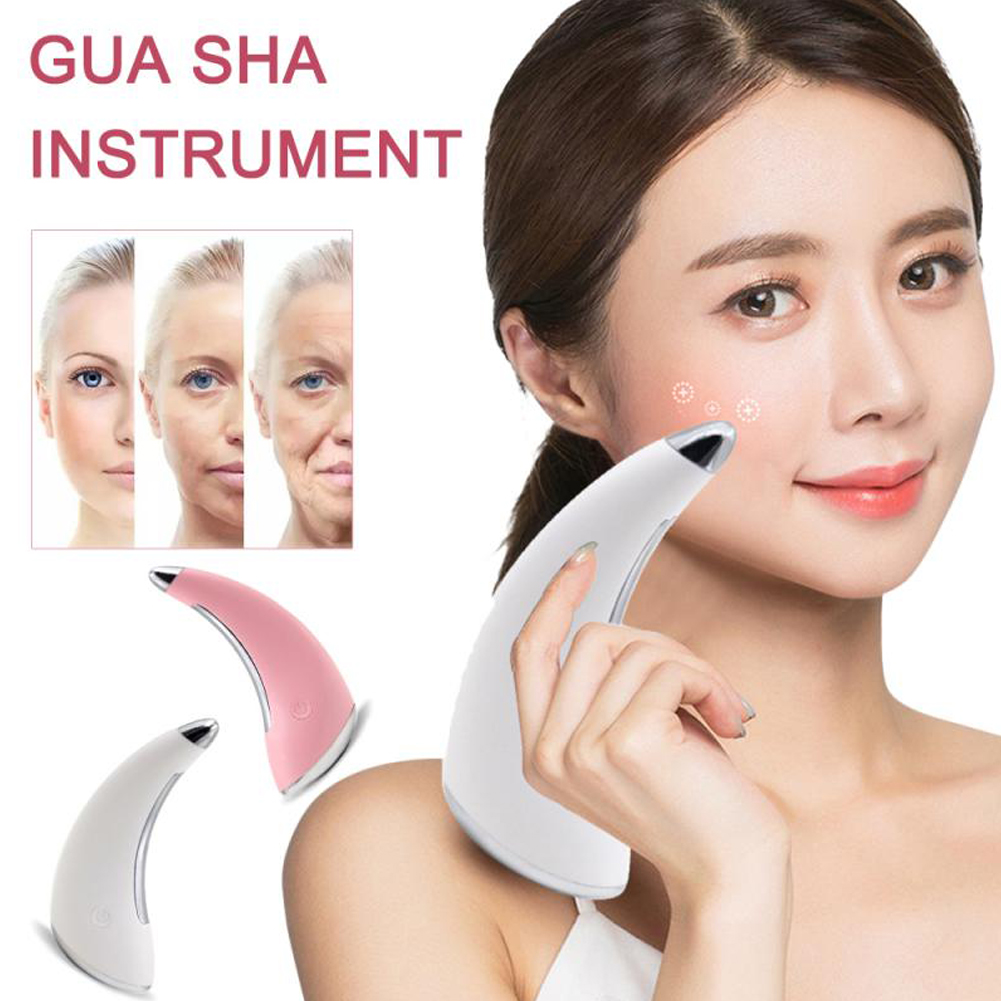 Electric Massage Scraping Instrument Facial Eye Gua Sha Massager Tool Facial Ion Rejuvenation Machine Skin Care Machine For Body