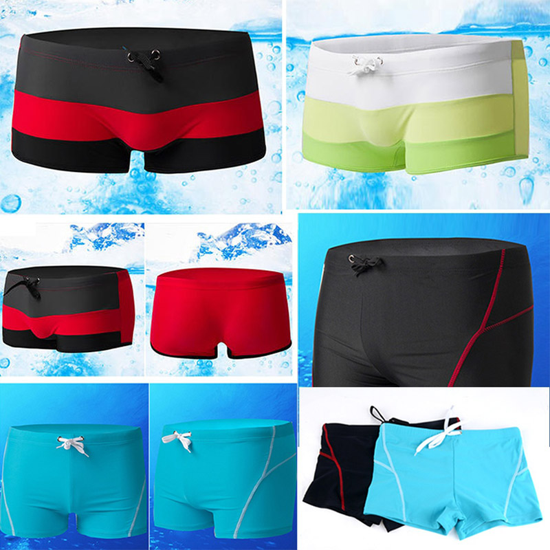 2020 New Swimwear Men Swimming Trunks Summer Sexy Men's Swimsuits Boxer Briefs Bach Short Pants