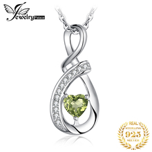 цены Natural Peridot Pendant Necklace 925 Sterling Silver Gemstones Choker Statement Necklace Women silver 925 Jewelry Without Chain