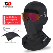 WEST BIKING Summer Bike Face Mask Cycling Fishing Sun UV Face Scarf Balaclava Windproof Soft Sport Mask Motorcycle headgear