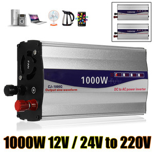 Image 2 - 1Set LED Display 1000W Pure Sine Wave Power Inverter 12V/ 24V To 220V Converter Transformer Power Supply Inverter