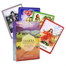 Чакра мудрости Oracle карты колода, 49 карт, английские карты Таро руководство игры игрушки