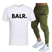 BALR 2019 New T Shirts Men Summer Union Man Short sleeve Tshirt Moscow Russia Mens Tees Cotton O Neck Tops Tee+Sweatpants