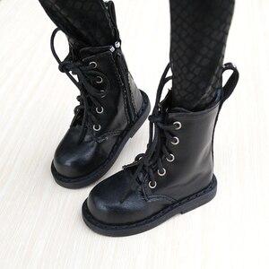 """Image 4 - Zapatos de BJD para hombre, botas negras, para 1/3 Flates, 24 """"de altura, muñeca BJD SD DK DZ AOD DD, envío gratis, hedooep"""