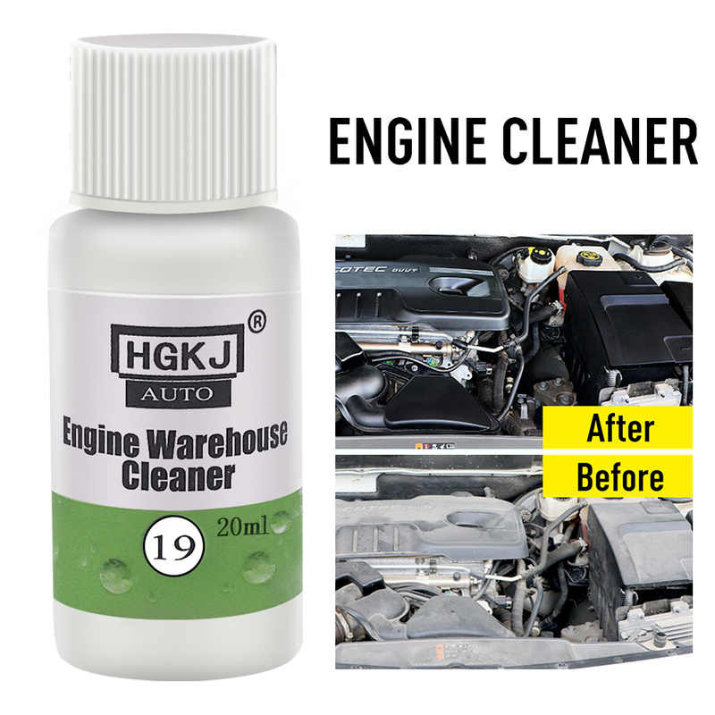 20ML 1ml Cleaner : 8ml Water Glass Washing Engine Compartment Cleaner Remove Heavy Oil Automotive Cleaning Kits Auto Accessories