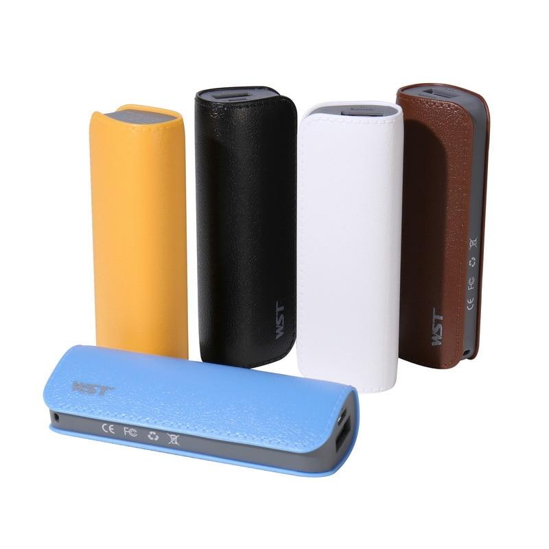 Universal 2600mAh Mini Power Bank 18650 Li ion Battery Powerbank Mobile Phone Charger for iPhone Samsung Xiaomi Backup Poverbank|Power Bank| |  - title=