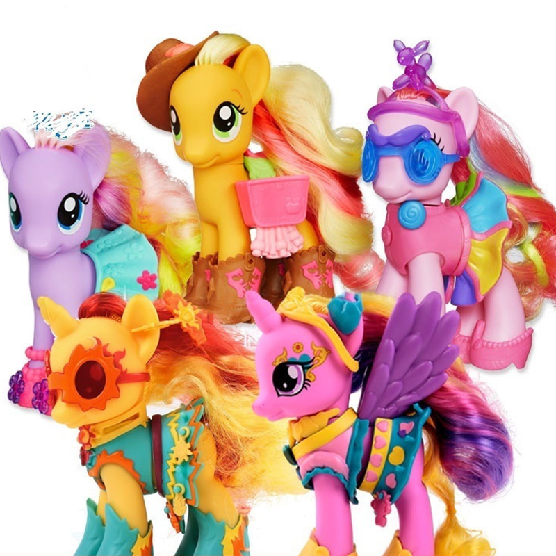 My Little Pony Baby Figure Neck Rotatable Toy Princess Girl Hot Toys Baby Birthday Gift Toys For Children Kids Toy Birthday Gift