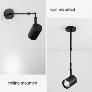Image 3 - Industrielle kunst Wand strahler lange pol led wand lichter für galerie museum bild beleuchtung flexible arm ausstellung foto lampe