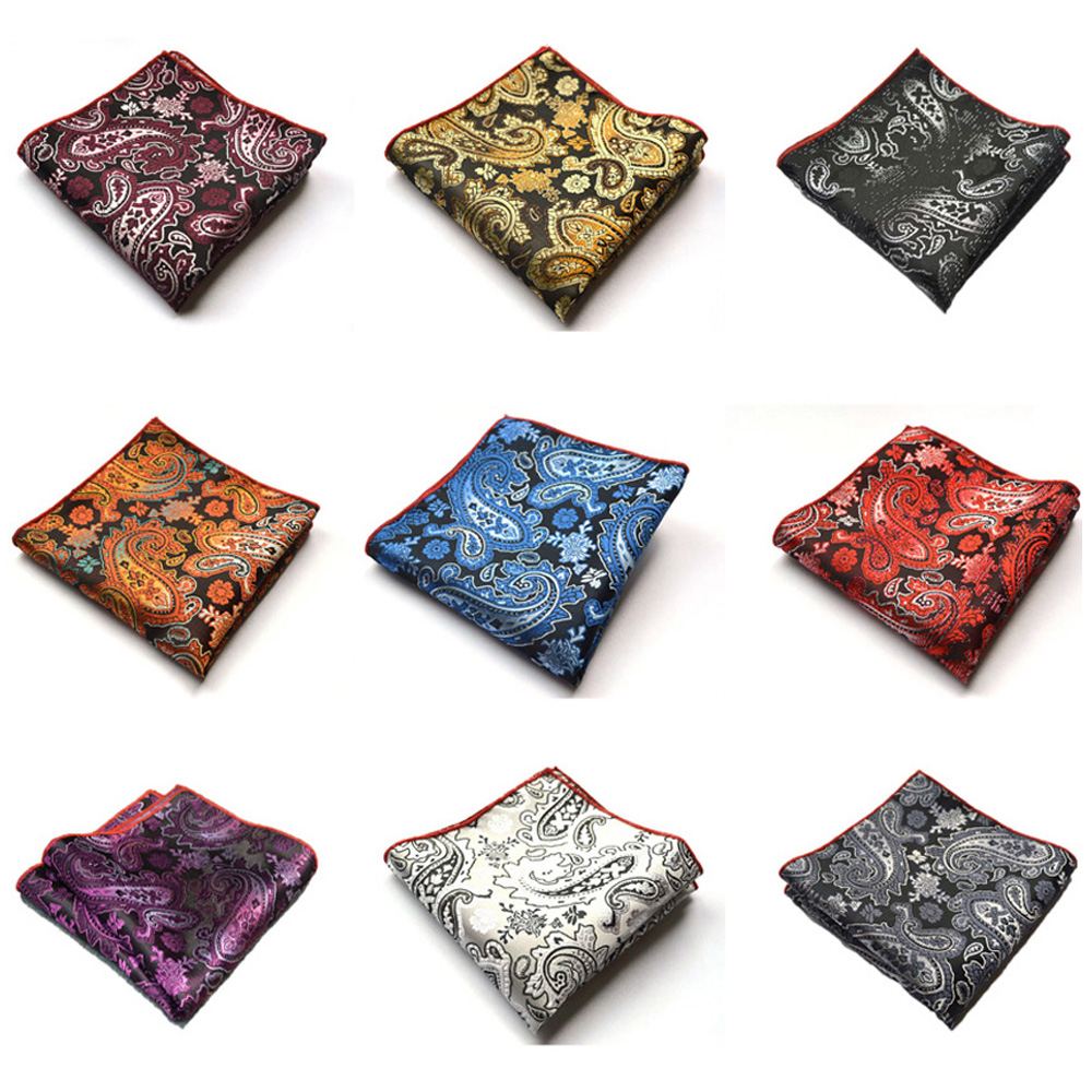 Men Classic Paisley Wedding Party Handkerchief Flower Pocket Square Hanky