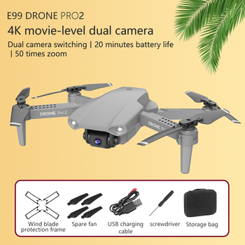 E99 Pro2 Mini Drone Skimmer With 4K 1080P 720P Dual Camera WIFI FPV Aerial Photography Helicopter RC Foldable Quadcopter Kid Toy 3