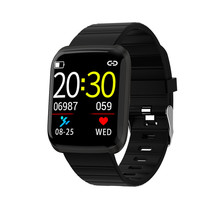 цена на 116PRO Smart Watch Color Screen Heart Rate Fitness Tracker Smart Wristband Sports Heart Rate Blood Pressure Monitor Smart Watch