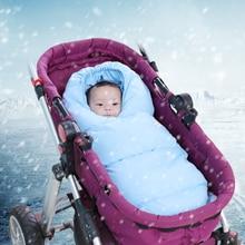 Детская коляска, спальный мешок, зимние модели, покрыты хлопком, для новорожденных, многофункциональный, анти-удар, спальный мешок из сумки