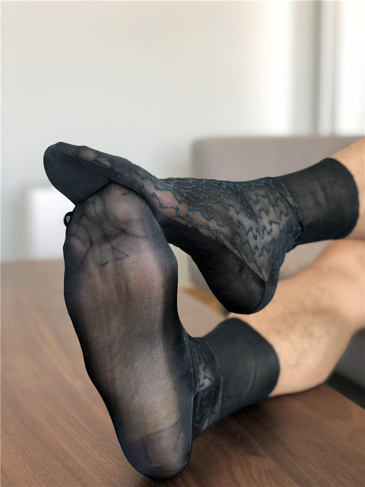 Tube Socks Men's Stocking Business Dress Stockings Sheer Socks Exotic Formal Wear Sheer Sock Sexy Male Transparent TNT Socks