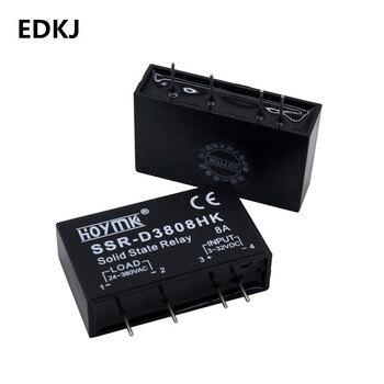 1pcs PCB SSR-D3803HK D3805HK D3808HK Dedicated with Pins SSR-D3805HK 5A DC-AC Solid State Relay 2 pcs gj 5fa l dc dc pcb ssr in 3 32vdc out 5 220v dc 5a solid state relay