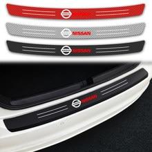 Coche-estilo de Protector de Parachoques Trasero de fibra de carbono adhesivo para maletero para Nissan QASHQAI J10 J11 2011, 2008, 2018, 2019 Tiida Teana Skyline
