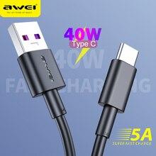 40w 5a usb tipo c cabo cabos de telefone móvel usb c cabo de carregamento rápido cabo acessórios do telefone celular para huawei samsung xiaomi