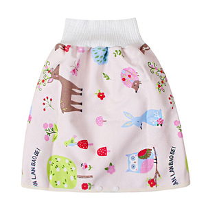 Comfy Cartoon Children Leak-proof High Waist Belly-protecting Diaper Skirt Breathable for Kids H7JP