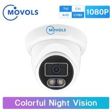 Movols 1080P Colorful Night Vision Surveillance Camera AHD/TVI/CVI/Analog 4 IN 1 CCTV Camera Waterproof Sony Sensor Doom Camera