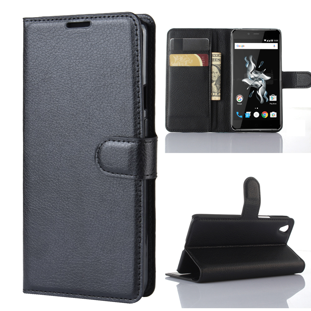 Wallet Cover Card Holder Phone <font><b>Cases</b></font> for <font><b>Oneplus</b></font> X 1+X <font><b>E1001</b></font> Pu Leather <font><b>Case</b></font> Protective Shell image