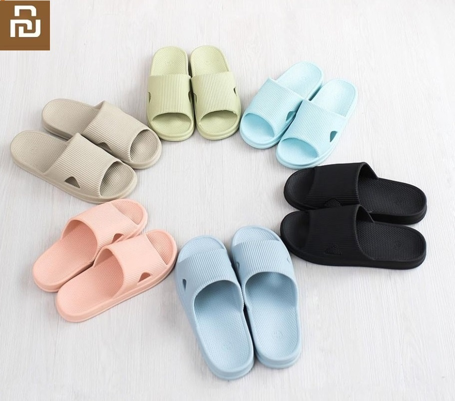 Youpin One Cloud  Summer Home Bathroom Flat Bath Slippers Soft Breathable Women Men Casual Sandals Non-slip Wear Slippers Summer