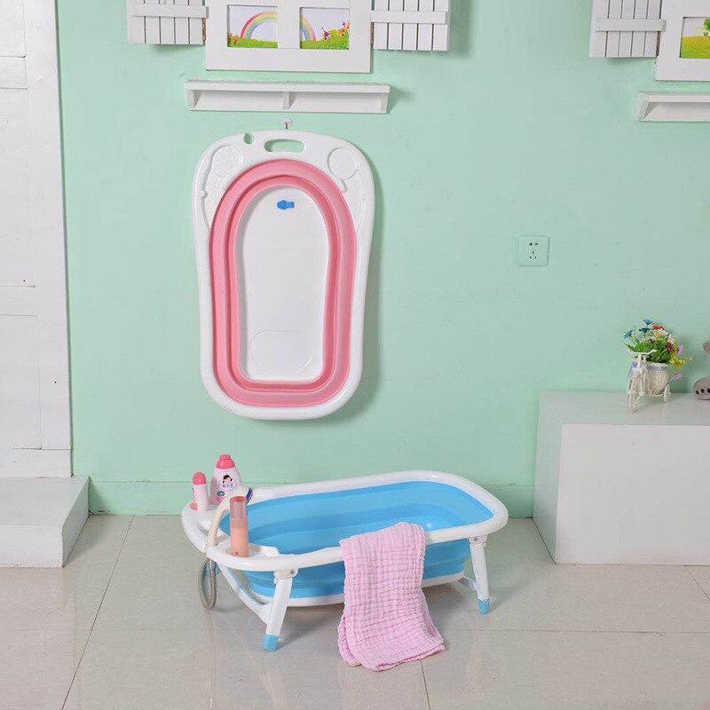 Bébé baignoire pliante bébé baignoire enfants baignoire douche bassin enfant nouveau-né grand épaississement LB92616