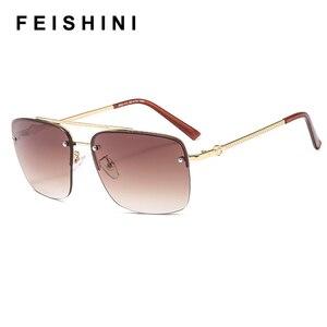 FEISHINI Gold Men Sunglasses W