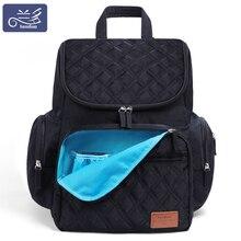 LAND anne bebek bezi çantaları anne büyük kapasiteli seyahat bezi sırt çantaları değiştirme matı uygun bebek hemşirelik çanta MPB37
