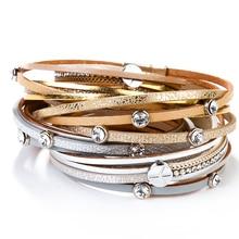 Fashion Bracelets Magnetic Clasp Peace Symbol Bangles Jewelry Gift Bohemian-Cuff Female
