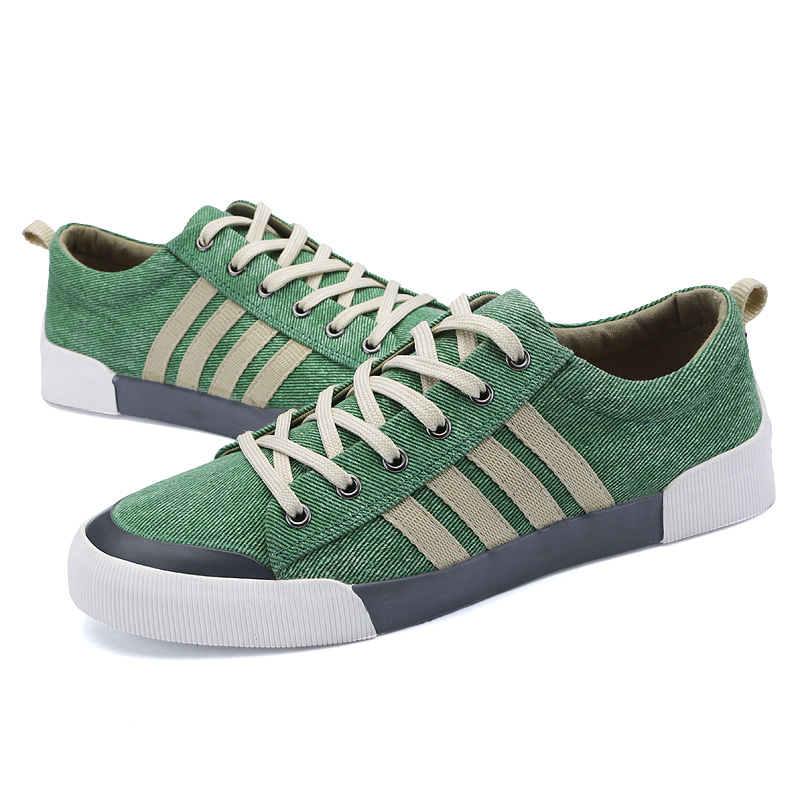 2020 Spring Summer New Style Men Canvas Shoes Outdoor Sneakers Lace-up Casual Shoes Breathable Walking Canvas Shoes