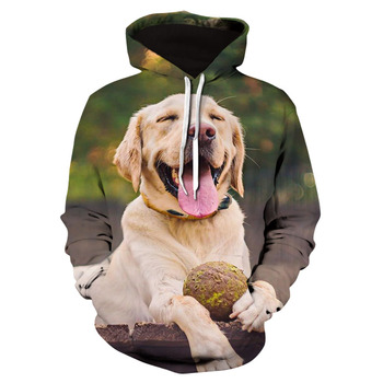 2020 New Cute Labrador dog animal casual 3D printed Hoodie fashion Sweatshirt mens / womens cool jacket Street