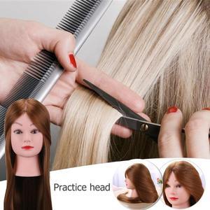 Image 4 - 理髪トレーニングヘッド本物の人間の髪の人形美容マネキンヘッド美容マネキン