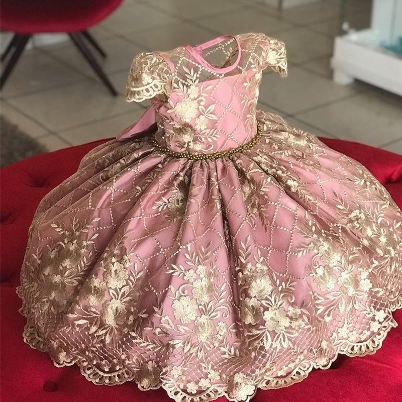 4-10 Years Kids <font><b>Dress</b></font> for Girls Wedding Tulle Lace Girl <font><b>Dress</b></font> Elegant <font><b>Princess</b></font> <font><b>Party</b></font> Pageant Formal Gown For Teen Children <font><b>Dress</b></font> image