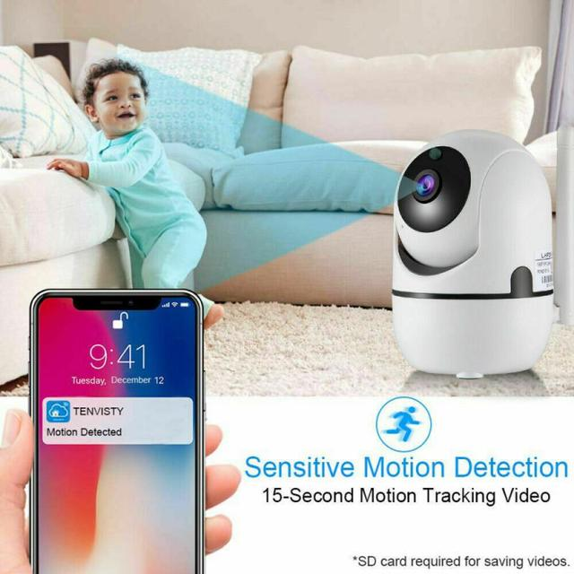 720P WiFi IP Camera Home Security Baby Monitor Clever Dog CCTV Night Vision Motion Detection And Alarm Security Indoor Camera 3
