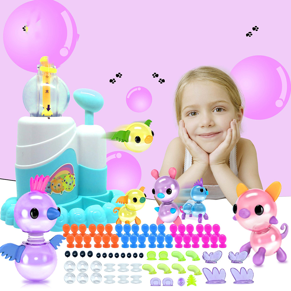 Magic Adhesive Wave Oonies Children DIY Handmade Creative Sticky Ball Fun Bubble Inflator Creativity Craft Toys Kit For Kids