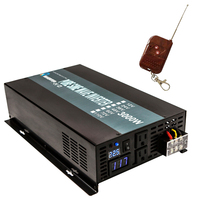 Pure Sine Wave Solar Power Inverter 3000W 24V DC to 220V AC Car Inverter Transformer 12V/24/48V to 120V/230V/240V Remote Control