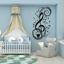 Модные музыкальные ноты diy домашний декор настенные наклейки