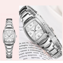 2019 Fashion Women Silver Stainless Steel Watch Luxury Ladies Bracelet Quartz Clock Rectangle Dial Waterproof Wristwatches Gift new women s fashion luxury bracelet watch quartz golden clock rectangle case crystal dial steel chain strap dress wristwatches