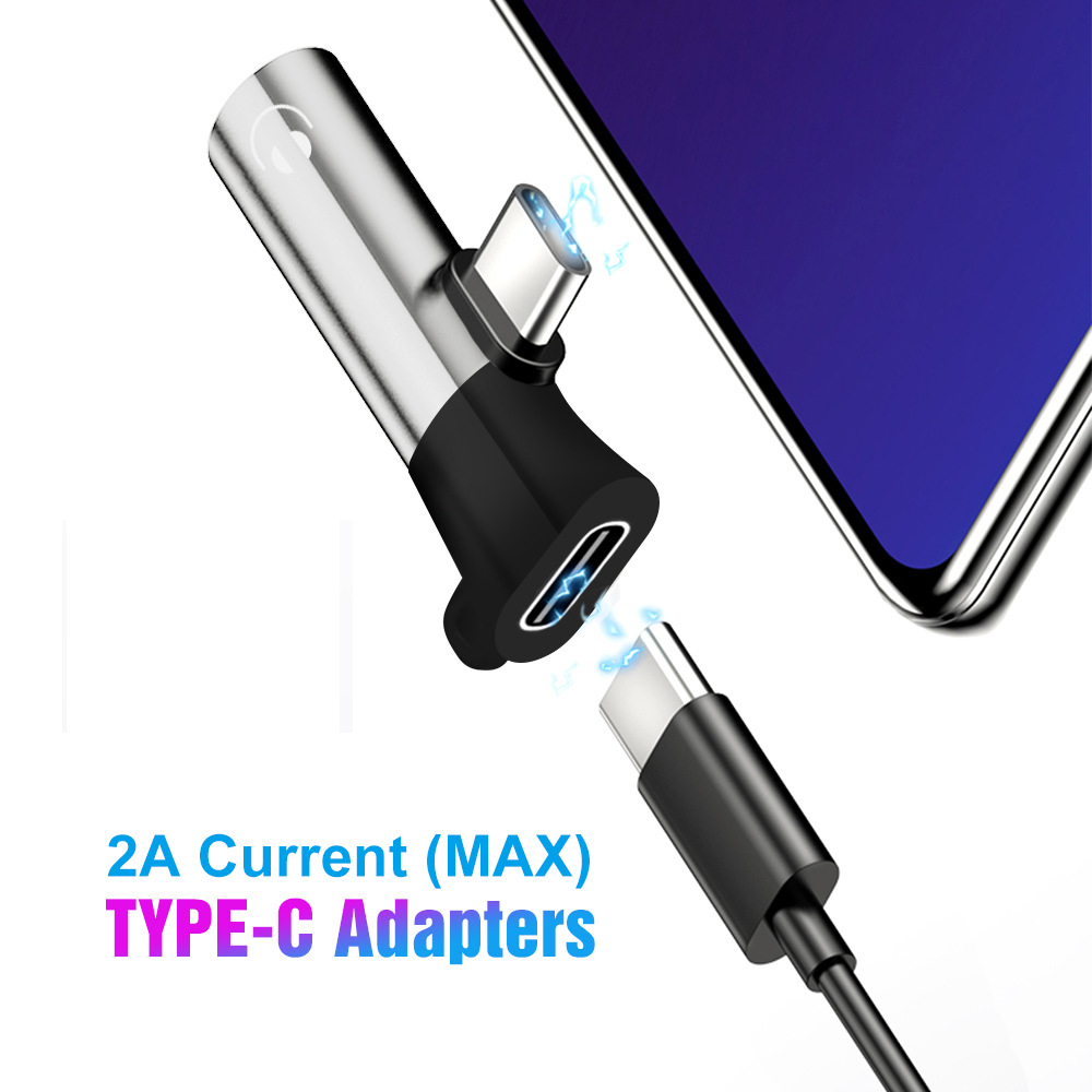 New Coming USB C Audio Cable Charger 2 In 1 Type C To 3.5 Mm Jack Aux Earphone Adapter USB C 3.5mm Converter Earphone Adapter