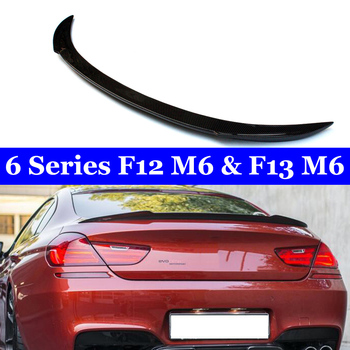 For BMW 6 Series F12 M6 F13 M6  2011-2018 Car Styling Carbon Fiber Rear Trunk Wing Lip Spoiler carbon fiber frp unpainted black rear trunk boot lip spoiler for bmw e82 2008 2011 trunk trim sticker custom spoiler car styling