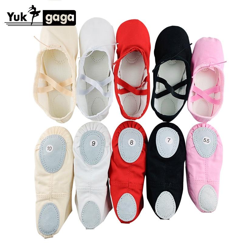A02d2 Ballet Slippers For Girls Classic Split-Sole Canvas Dance Gymnastics Baby Yoga Shoes Kids Dance Shoe Women Ballerina