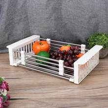kitchen Retractable Kitchen Dish Drainer Draining Rack Storage Shelf Organizer for Home Use paper towel holder(China)