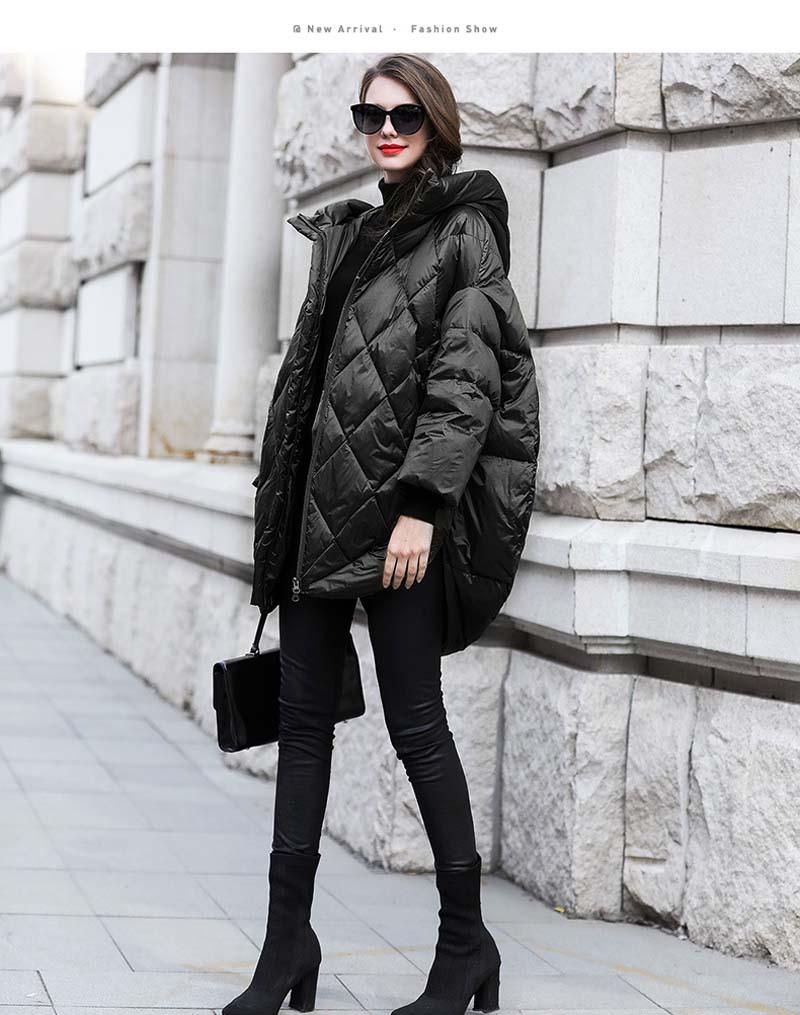 Sólido oversize com capuz jaqueta feminina para