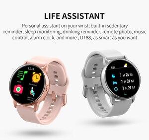Image 5 - 2020 جديد إمرأة Smartwatch IP68 مقاوم للماء لبس جهاز مراقب معدل ضربات القلب ساعة ذكية ل أندرويد IOS inteligentny zegarek
