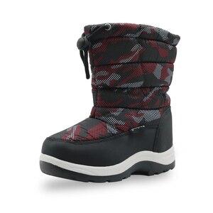 Image 3 - Kinder Anti slip Camouflage Bergsteigen Schuhe für Baby Jungen Kleinkind Kinder Mid Kalb Warm Plüsch Winter Schnee stiefel