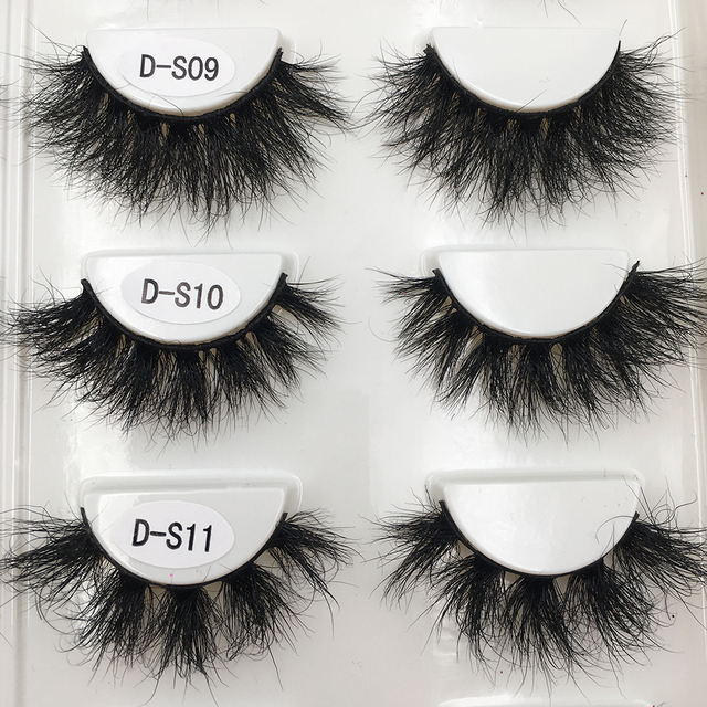 RED SIREN Lashes Mink Eyelashes Real Mink Hair Fluffy Messy Soft Natural Lashes Makeup 3d Mink Lashes 2